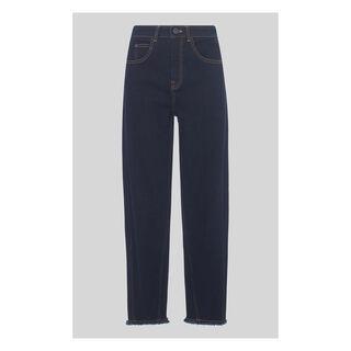 High Waist Barrel Leg Jean, in Dark Denim on Whistles
