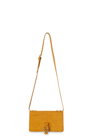 Zora Leather Suede Ring Bag, in Yellow on Whistles
