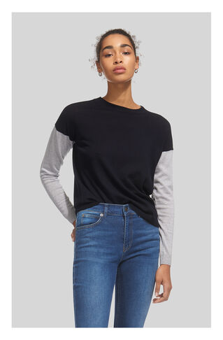 Colour Block Sleeve Sweater, in Navy on Whistles
