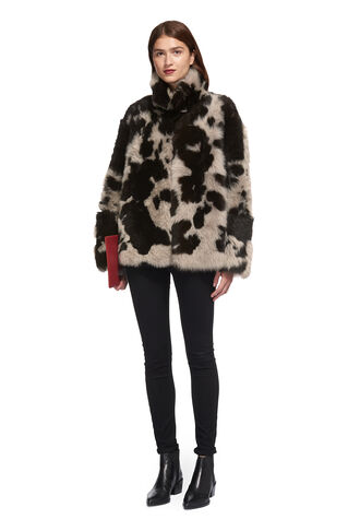 Helvin Cow Shearling Jacket, in Multicolour on Whistles