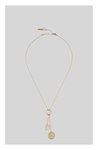 Circle Disc Drop Necklace, in Gold on Whistles