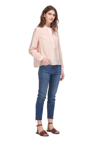Heather Swing Top, in Pale Pink on Whistles