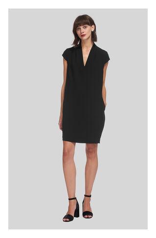 Paige V Neck Dress, in Black on Whistles
