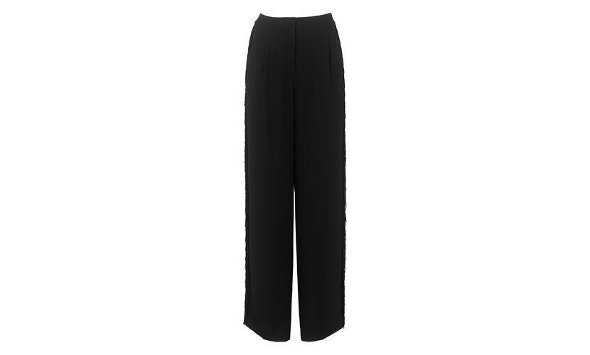 Tassel Trim Trouser, in Black on Whistles