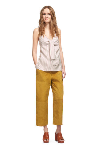 Anya Suede Trouser, in Olive on Whistles