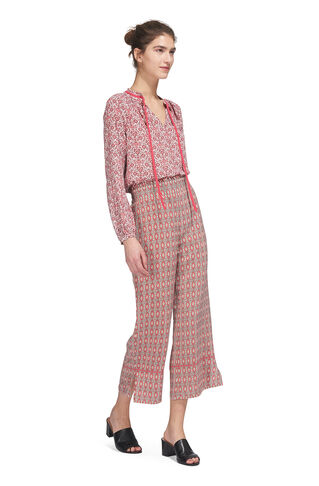 Alisha Split Hem Trouser, in Pink/Multi on Whistles