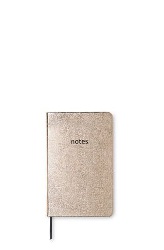 Metallic Leather Notebook, in Gold on Whistles