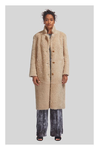 Myers Shearling Coat, in Ivory on Whistles