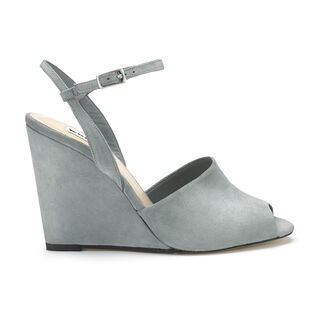 Lily Ankle Strap Wedge, in Grey on Whistles
