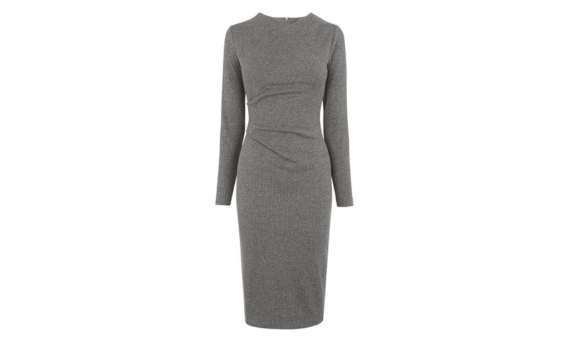 Drew Pinstripe Bodycon, in Grey on Whistles