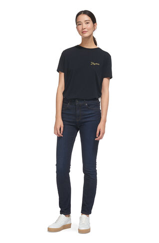 Joyeux Embroidered Tee, in Navy on Whistles