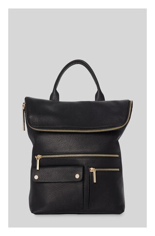 Farrow Pocket Detail Backpack, in Black on Whistles