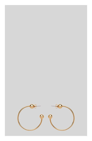Large Pierced Hoop Earring, in Gold on Whistles
