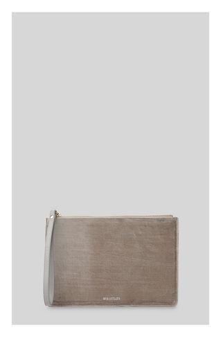 Velvet Wristlet, in Grey on Whistles