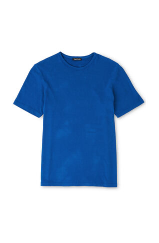 Overdyed Textured T-Shirt, in Blue on Whistles