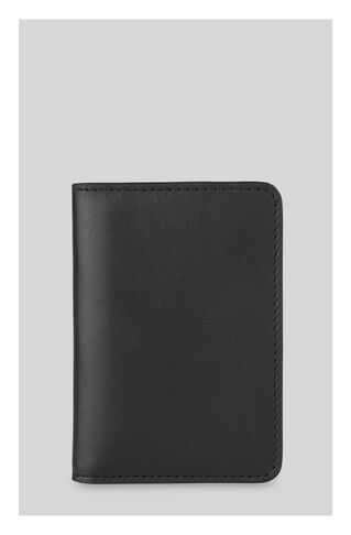 Leather Double Fold Cardholder, in Black on Whistles