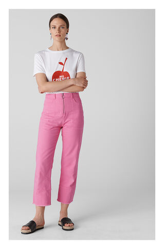 Ring Puller Straight Leg Jeans, in Pink on Whistles