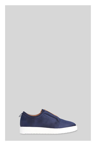 Vale Satin Flatform Trainer, in Navy on Whistles