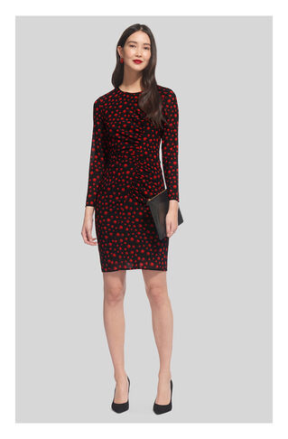 Eclipse Print Silk Bodycon, in Red/Multi on Whistles