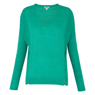 V Neck Relaxed Knit, in Turquoise on Whistles