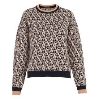 Britt Diamond Jacquard Sweater, in Multicolour on Whistles