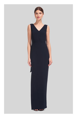 Marlena Textured Maxi Dress, in Navy on Whistles