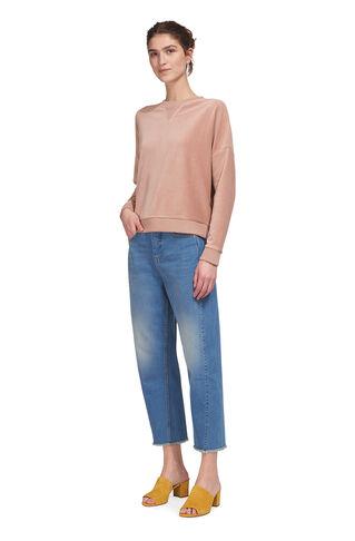 Velour Sweatshirt, in Pale Pink on Whistles