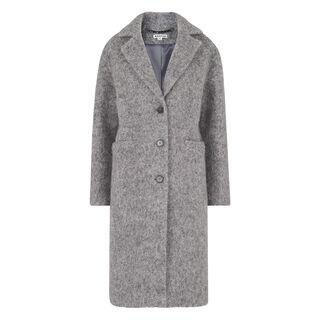 Slim Drawn Coat, in Grey on Whistles