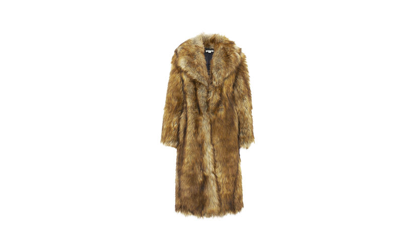 Wolfie Faux Fur Coat, in Multicolour on Whistles