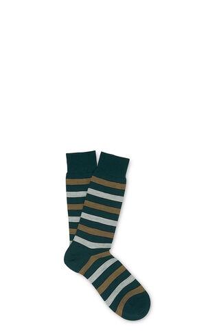 Striped Merino Socks, in Dark Green on Whistles