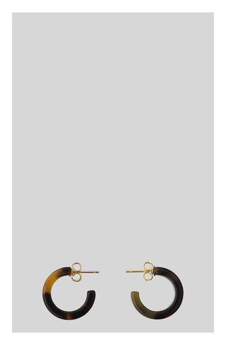 Mini Tort Hoop Earring, in Brown/Multi on Whistles