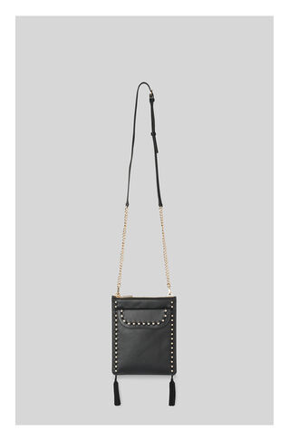 Studded Tassel Leather Pouch, in Black on Whistles