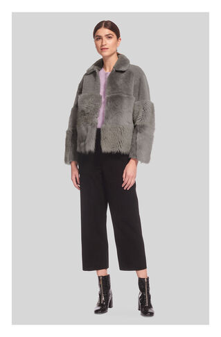 Hema Mix Sheepskin, in Grey on Whistles