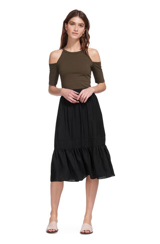 Simone Ruffle Skirt, in Black on Whistles