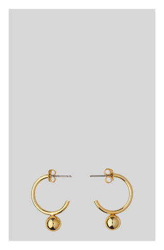 Hoop And Sphere Earring, in Gold on Whistles