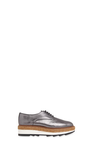 Rex Espadrille Wedge Shoe, in Pewter on Whistles
