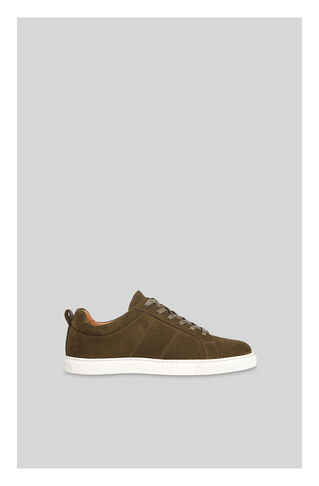 Koki Suede Lace Up Trainer, in Khaki on Whistles