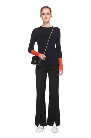 Nell Split Front Trouser, in Black on Whistles