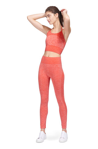 Halter Crop Sports Bra Top, in Coral on Whistles