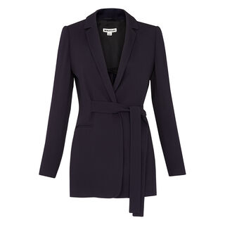 Belted Soft Crepe Jacket, in Navy on Whistles