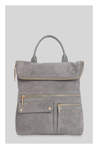 Farrow Suede Pocket Backpack, in Grey on Whistles