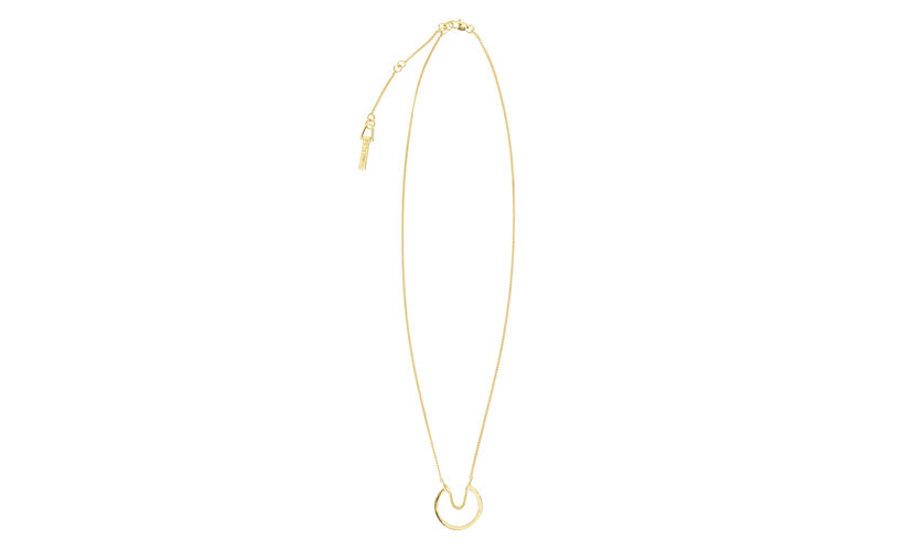 Chain Hoop Necklace, in Gold on Whistles
