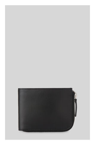Leather Zip Around Wallet, in Black on Whistles