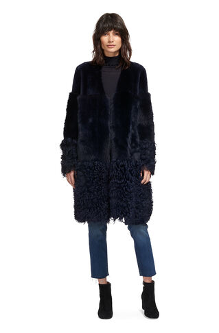 Cosmo Coat, in Navy on Whistles
