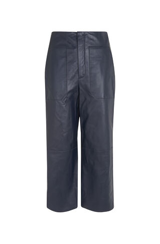 Olive Leather Trouser, in Navy on Whistles