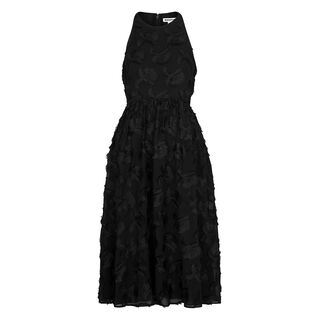 Applique Textured Dress, in Black on Whistles