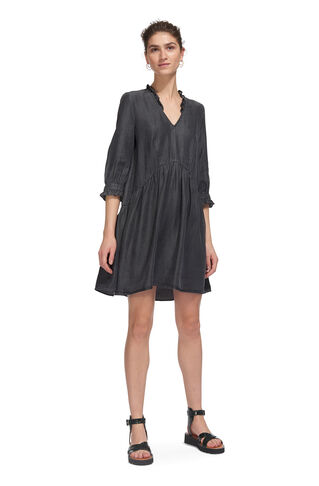 Aneka Frill Denim Dress, in Grey on Whistles