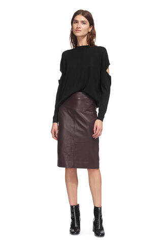 Cut Out Sleeve Sweater, in Black on Whistles