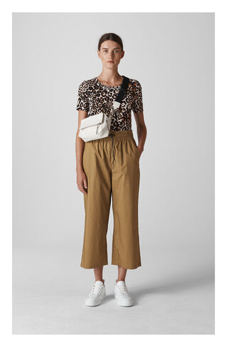 Ash Elasticated Poplin Trouser, in Khaki on Whistles