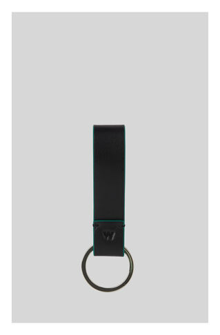 Leather Keyring, in Green/Multi on Whistles